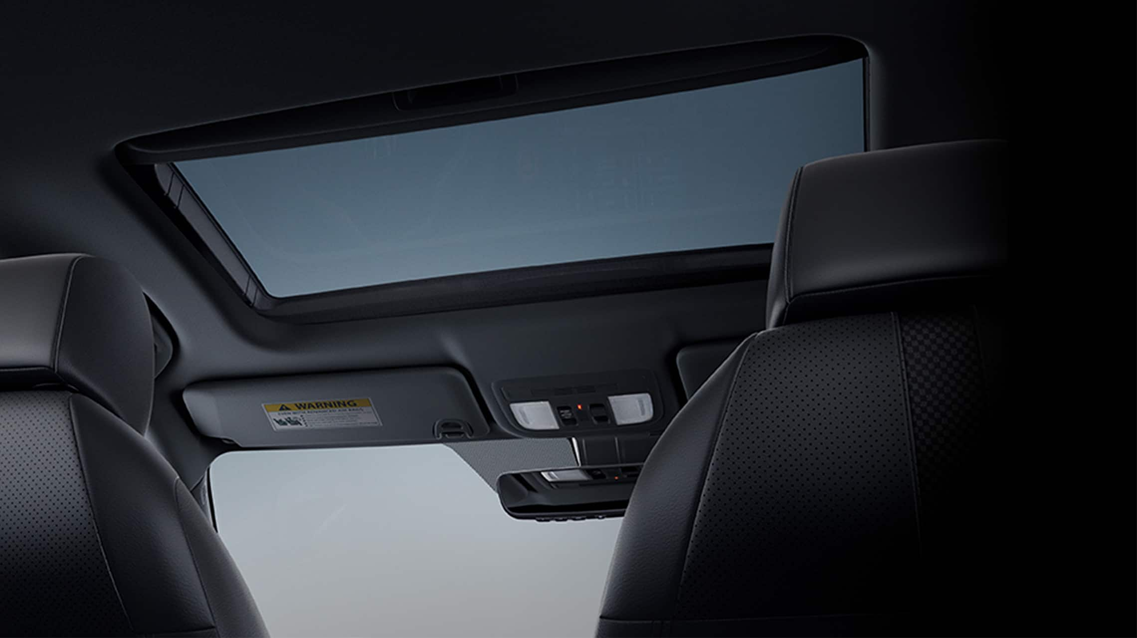 Power moonroof detail in the 2021 Honda Civic Sport Touring Hatchback.